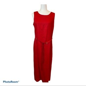 Women's Red Sleeveless Maxi Dress by Donna Morgan